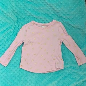3T pink long sleeve Unicorn shirt from Old Navy